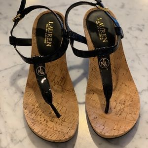 Ralph Lauren Size 7.5B Wedge Sandals